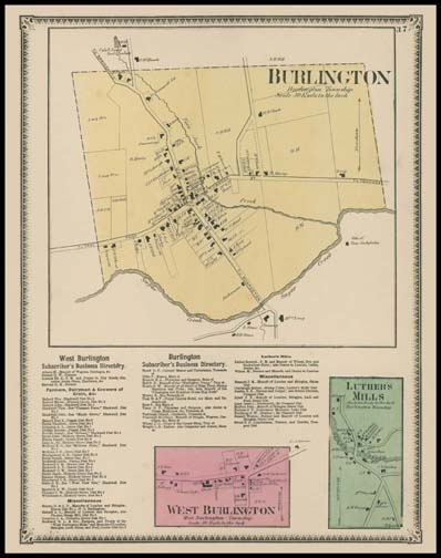 Burlington,West Burlington,Luther's Mills