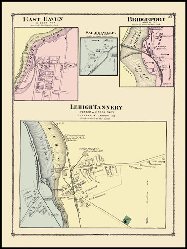 East Haven,Sailrosville,Bridgeport,Lehigh Tannery