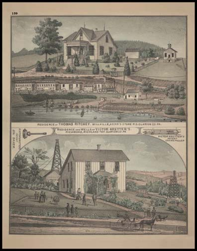 Residence of Thomas Ritchey - Millville Residence & Wells of Victor Gretters's - Richmond