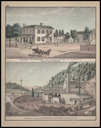 Residence of R.B. Brown - Clarion Red Bank Furnace - Reynolds & Morehead