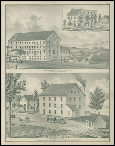 Res & Malt House of Philip Frank,Res & Mill of J. H. Musser