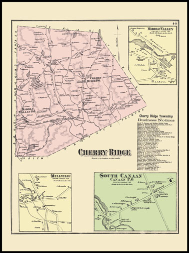 Chery Ridge Township,Millville,South Canaan,Middle Valley