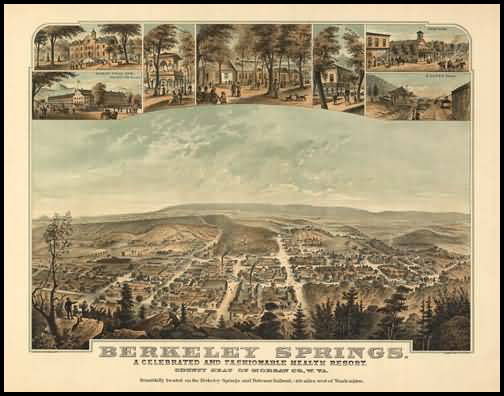 Berkley Springs Panoramic - 1889