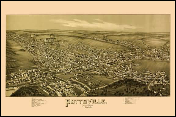 Pottsville Panoramic - 1889