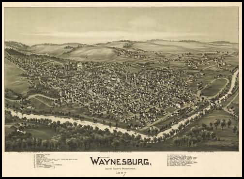 Waynesburg Panoramic - 1897