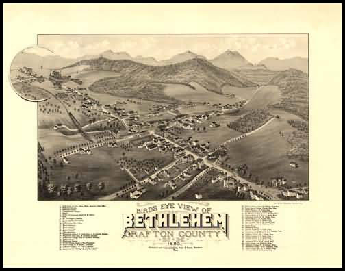 Bethlehem 1883 Panoramic Drawing