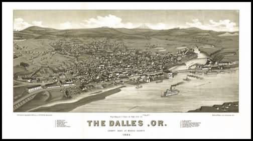 The Dalles Panoramic - 1884
