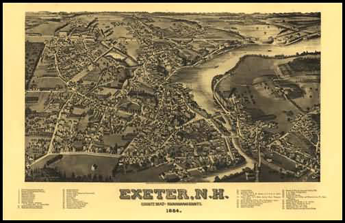 Exeter 1884 Panoramic Drawing