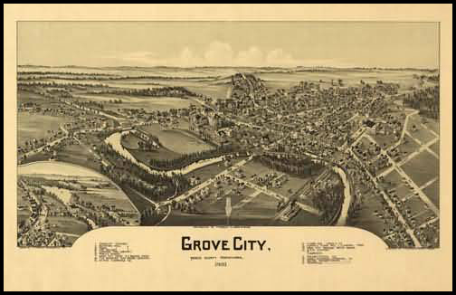 Grove City Panoramic - 1901