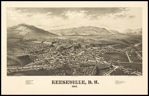 Keeseville Panoramic - 1887