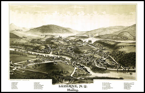 Luzerne & Hadley Panoramic - 1888