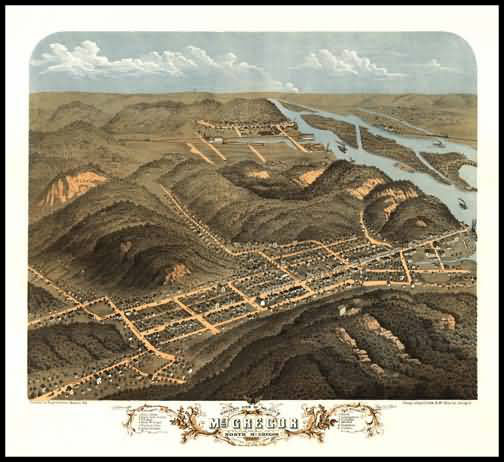 Mc Gregor 1869 Panoramic Drawing