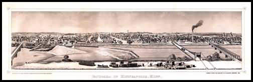 Minneapolis 1873 Panoramic Drawing