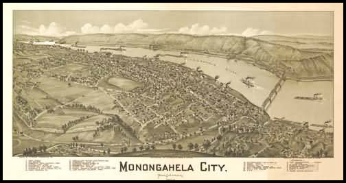 Monongahela City Panoramic - 1902