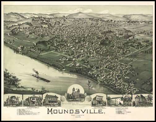 Moundsville Panoramic - 1899