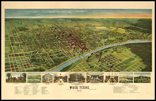Waco 1892 Panoramic Drawing