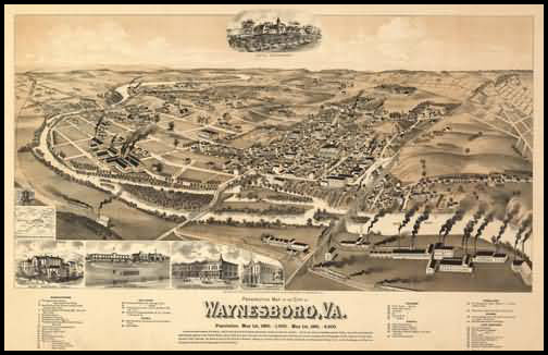 Waynesboro Panoramic - 1890