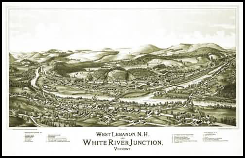 White River Junction Panoramic - 1889