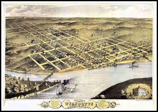 Wyandotte Panoramic - 1869
