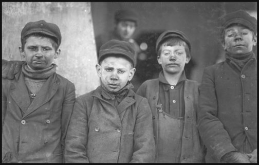 Breaker Boys at No. 9 Breaker - Hughestown Borough - Pa. Coal Co. - 1911