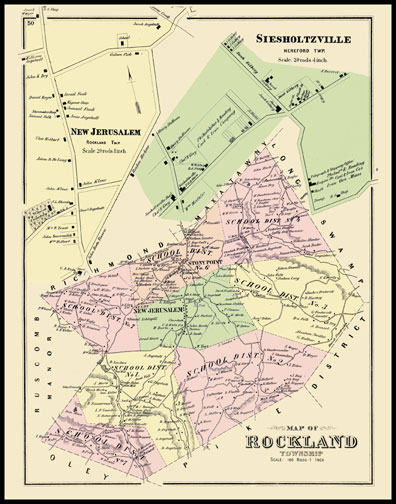 Rockland Township,Siesholtzville,New Jerusalem