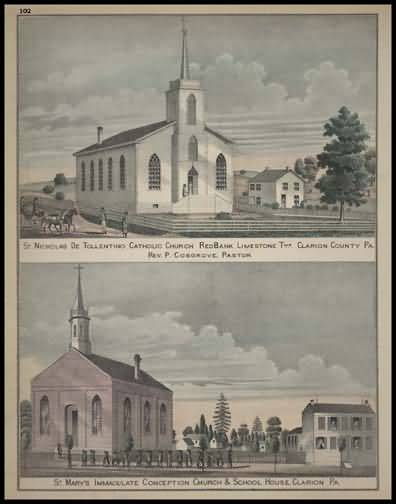 St. Nicholas De Tollention Catholic Church - Redbank St. Marry's Immaculate Conception Church & School House - Clarion