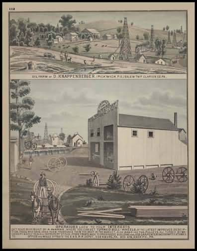 Oil Farm of D. Knappenberger - Salem Township Cornwall Planing Mill & Bull Wheel Factory
