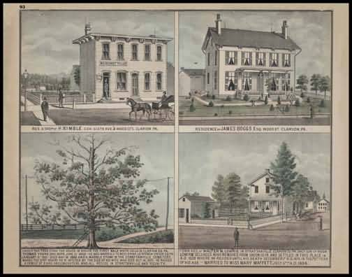 Residence & Shop of H. Kimble - Clarion Residence of James Boggs - Clarion Residence of Walter Lowrie - Strattanville