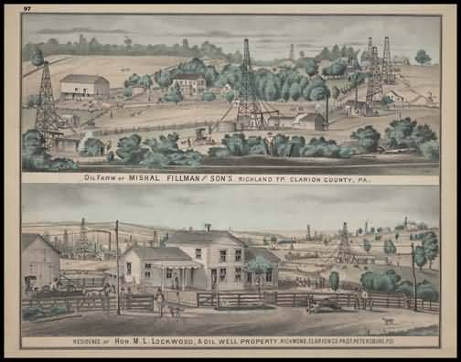 Oil Farm of Mishal Fillman & Sons - Richland Township Residence of Hon. M.L. Lockwood - Richmond