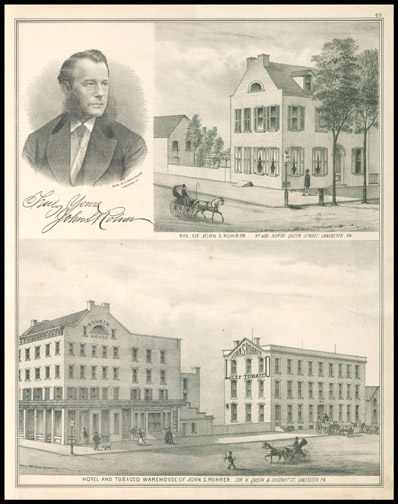 Res of John S Rohrer,Hotel and Tobacco Warehouse of John S. Rohrer