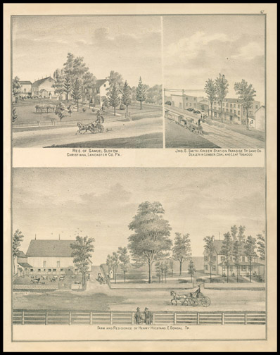 Res of Samuel Slokum,Jno. S. Smith Kinzer Station,Farm & Res of Henry Hiestand