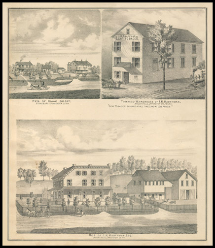 Res. of Isaac Groff,Tobacco Warehouse of I. H. Kauffman,Res. of I. H. Kauffman