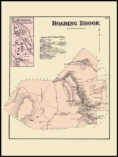 Roaring Brook Township,Dunnings