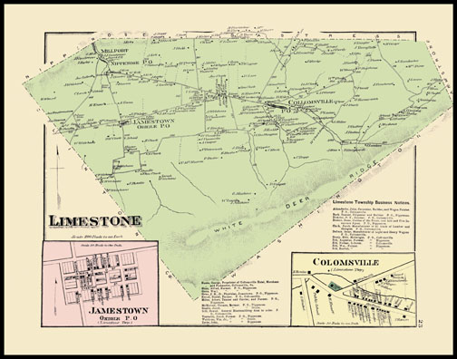 Limestone Township,Jamestown,Colomsville