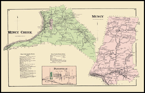 Muncy Creek Township,Muncy Township,Pennsville