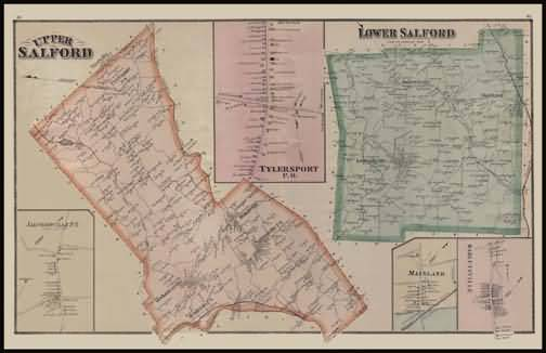 Upper Salford Township,Lower Salford Township,Mainland,Harleysville,Tylers Port