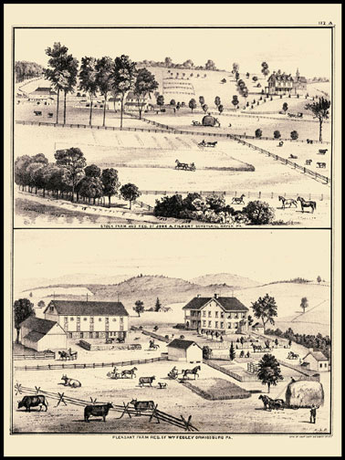 Stock Farm & Residence of John Filbert - Schuylkill Haven,Pleasant Farm & Residence of Wm. Fegley - Orwigsburg