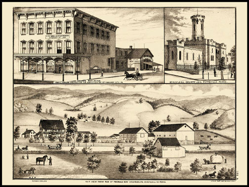 Knapps Building - Mahanoy City,Fair View Farm & Residence of Thomas Hoy - Orwigsburg,Schuykill County Jail