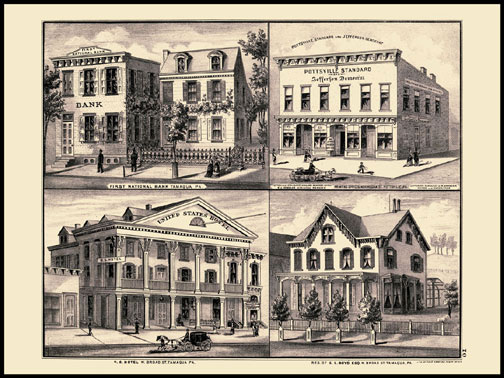 First National Bank - Tamaqua,Pottsville Standard,Residence of G.L. Boyd - Tamaqua,U.S. Hotel - Tamaqua