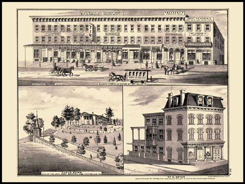 Block of Stores,Cloud Home,W.E. Boyer - Pottsville