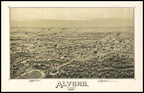 Alvord 1890 Panoramic Drawing