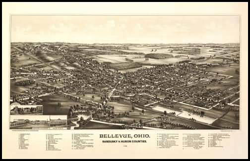 Bellevue 1888 Panoramic Drawing