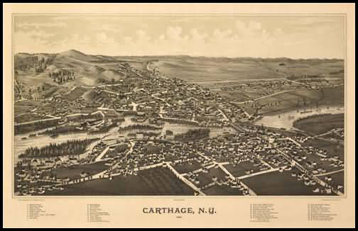 Carthage Panoramic - 1888