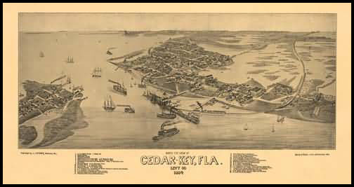Cedar-Key Panoramic - 1884