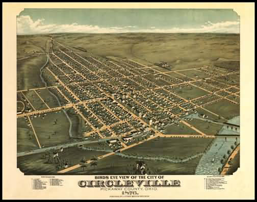 Circleville 1876 Panoramic Drawing