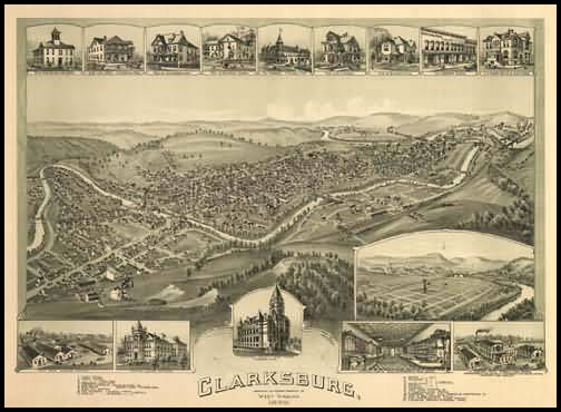 Clarksburg Panoramic - 1898