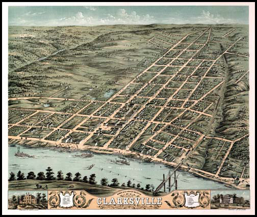 Clarksville Panoramic - 1870