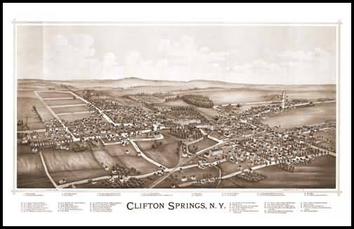 Clifton Springs Panoramic - 1892