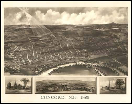 Concord 1899 Panoramic Drawing
