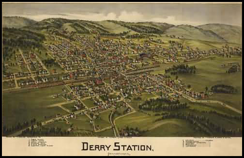 Derry Station Panoramic - 1900